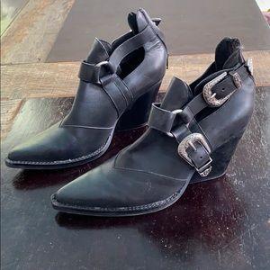 Jeffrey Campbell x Free People black booties